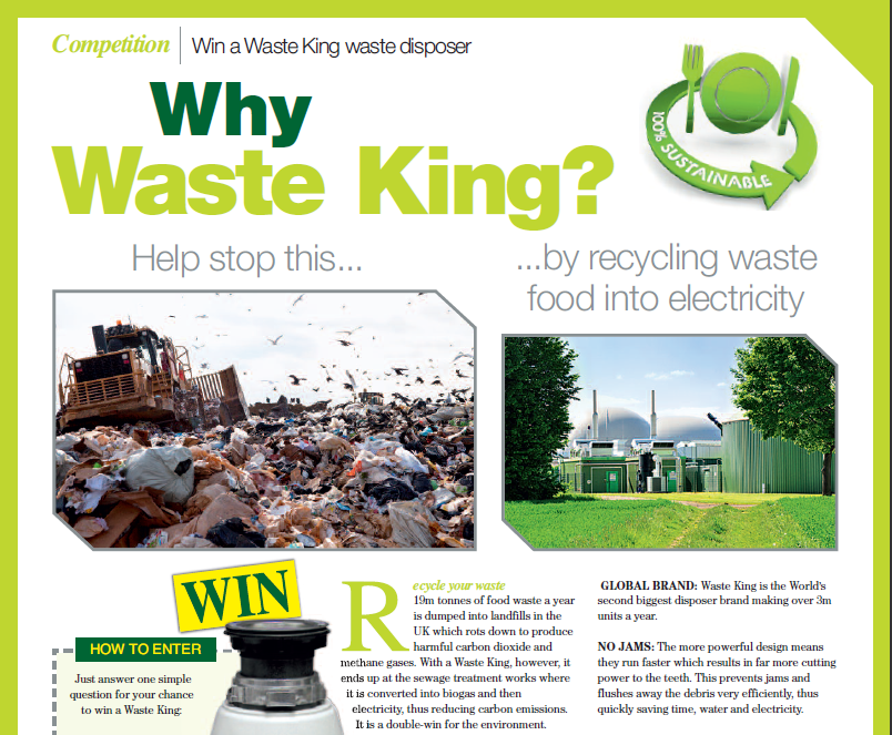 Win a Waste King!